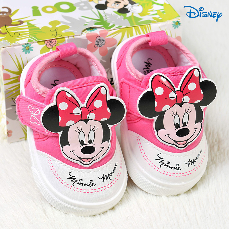 Disney Children's Soft Bottom Toddler Shoes 2018 Spring And Summer Female Baby Children Slippery Warm Wear Casual Shoes