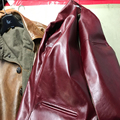 Chaqueta de cuero de la vaca de los hombres mans delgado chaqueta corta la ropa de cuero genuino de la vendimia del zurriago