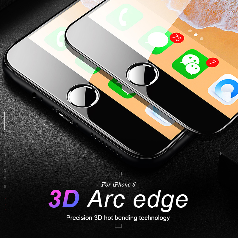 3D Curved Carbon Fiber Tempered Glass On Iphone 7 8 Plus For Iphone Xs Max XR XS X Screen Protector For IPhone 6 6S 7 8 Plus