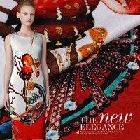 Digital inkjet jacquard fabric French high end fashion yarn dyed jacquard fabric custom clothing suit 100 polyester fabric