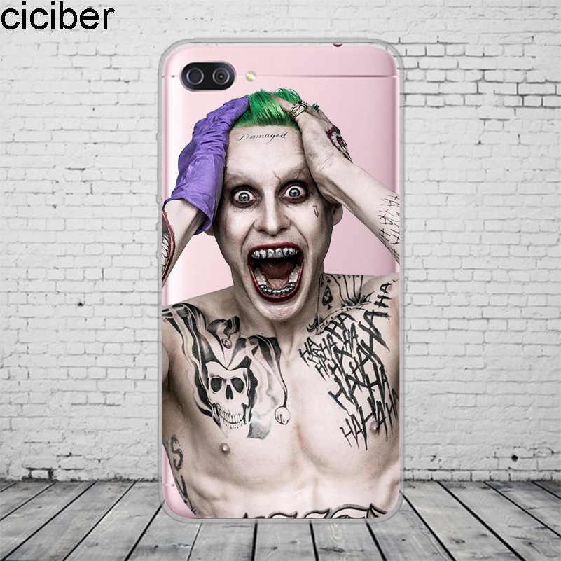 Ciciber DC 驚異自殺分隊ジョーカー Asus Zenfone 5 5 4 3 3S 最大プロプラスレーザーデラックス selfie Z Q Lite 電話ケース TPU
