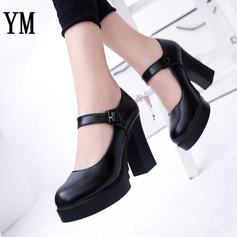 Chunky Wedding Heels: Women Shoes Round Toe Pumps Dress Shoes Chunky Heel High