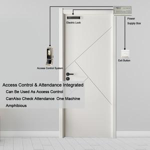 Image 5 - Face sistema de controle acesso reconhecimento rosto fechadura da porta sistema biométrico usb time clock recorder para escritório equipamentos do empregado