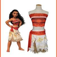 Sensfsun Movie Princess Moana Costume For Kids Moana Princess Dress Cosplay Costume Children Halloween Costume For