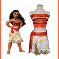 Sensfsun Movie Princess Moana Costume For Kids Moana Princess Dress Cosplay Costume Children Halloween Costume For