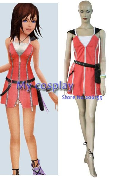Anime Kingdom Hearts 2 Kairi Dress Women S Cosplay Costumes For