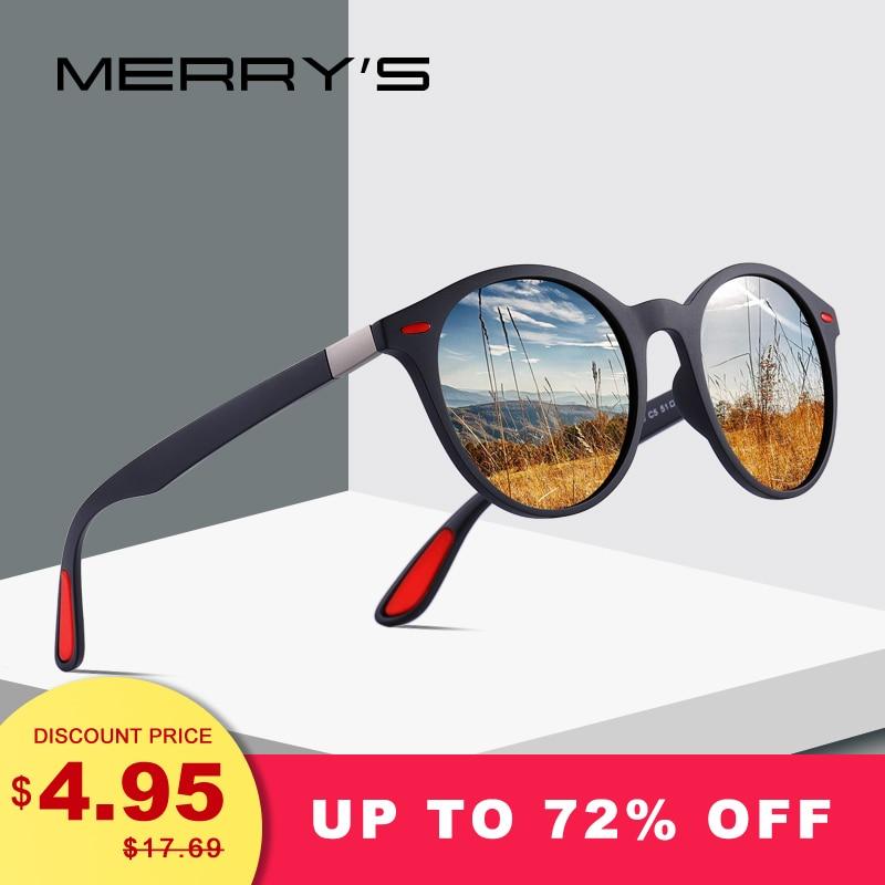 MERRYS PROJETO Das Mulheres Dos Homens Clássico Retro Rebite Óculos Polarizados TR90 Pernas Mais Leve Design Oval Quadro Proteção UV400 S8126