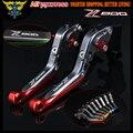 Laser Logo(Z800) Red+Titanium For kawasaki Z800/E version 2013 2014 2015 2016 Motorcycle CNC Extendable Brake Clutch Levers