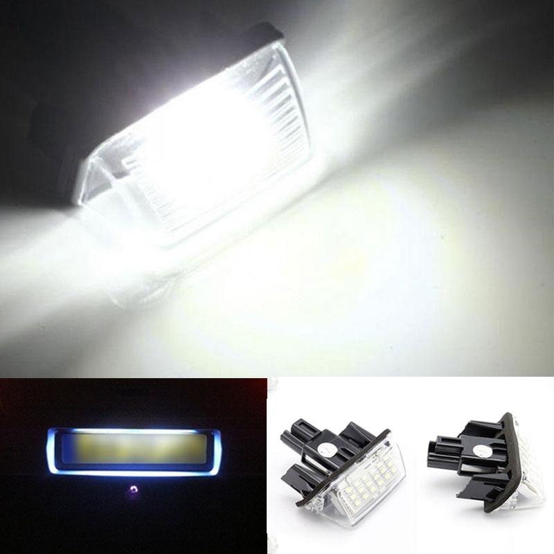 2 Pcs Set 18 LED Car License Number Plate Light Bulb font b Lamp b font
