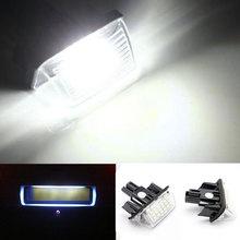 2 шт./компл. 18 светодиодный автомобиля номерной знак света лампы для Toyota Camry Yaris автомобиль corolla fielder M8617