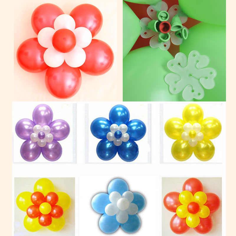 5 piezas 6,5 cm 1 5 en forma de flor globos Clip de sellado fija globos accesorios Clips boda/cumpleaños/ suministros de decoración de fiesta de navidad