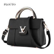 Plouto Female Small Shoulder Bag Casual Messenger Bag Fashion V Lock Lady Flap Cover PU Leather Handbag Crossbody
