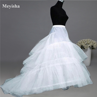 Wedding Dress Crinoline Bridal Petticoat Underskirt 2 Hoops With Chapel Train