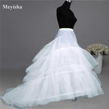 ZJ52015 Wedding Dress Crinoline Bridal Petticoat Underskirt 2 Hoops with Chapel Train - DISCOUNT ITEM  28% OFF All Category