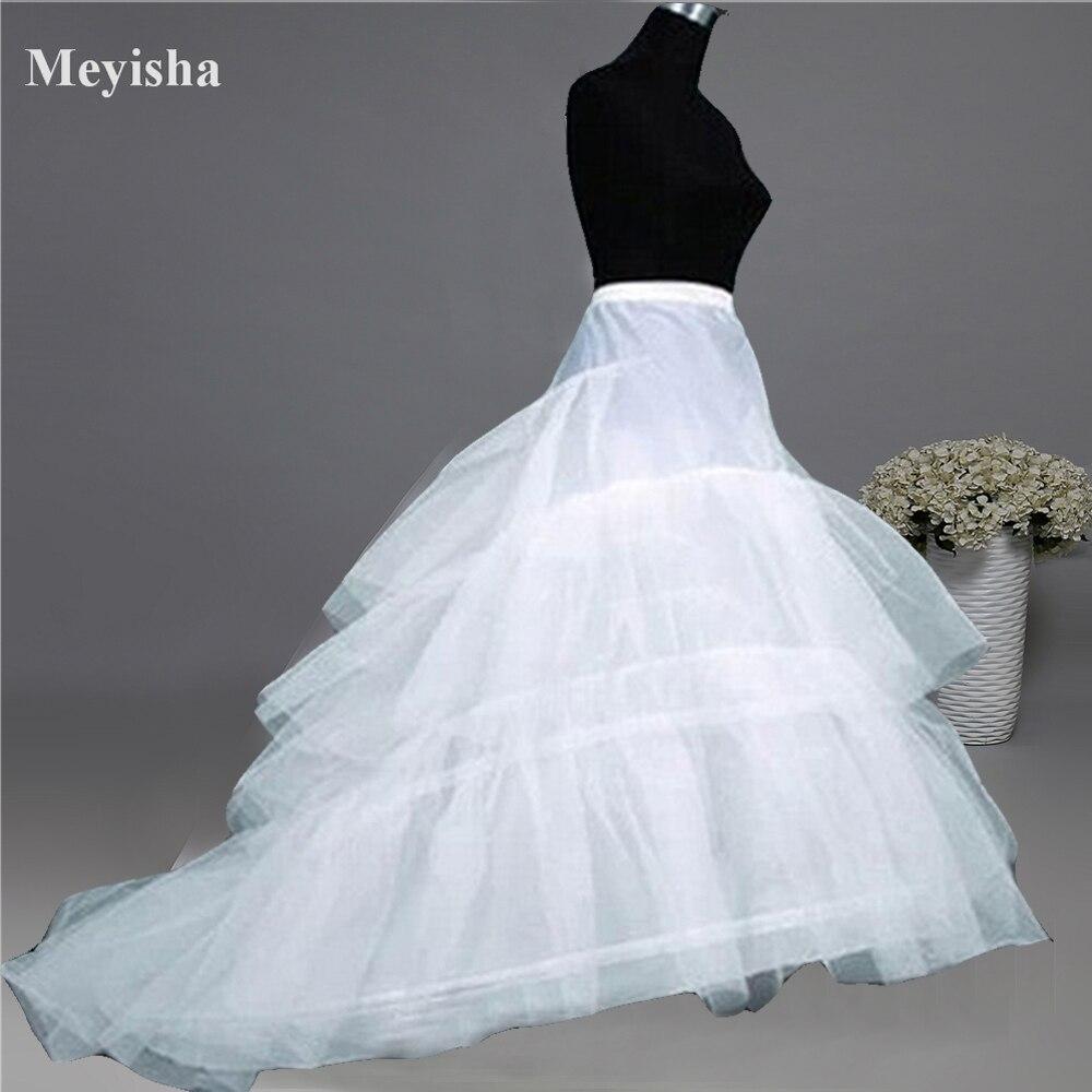 ZJ52015 Wedding Dress Crinoline Petticoat Nuziale Underskirt 2 Cerchi con Cappella Treno