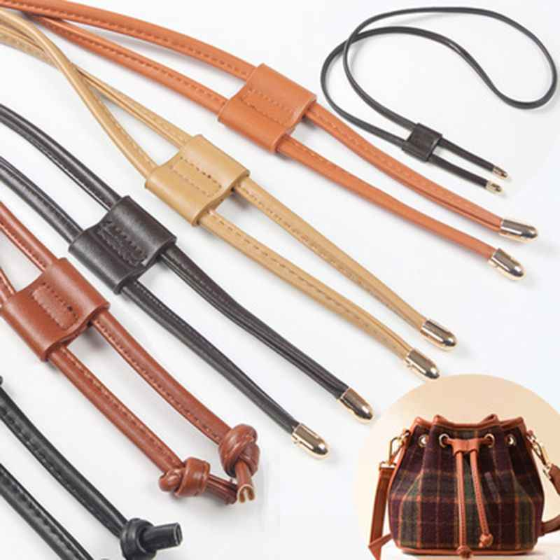 Fashion New Women Girls Detachable PU Leather Bag Strap Belt Bucket Bags Drawstring Bunches Backpack Beam Pocket Accessories