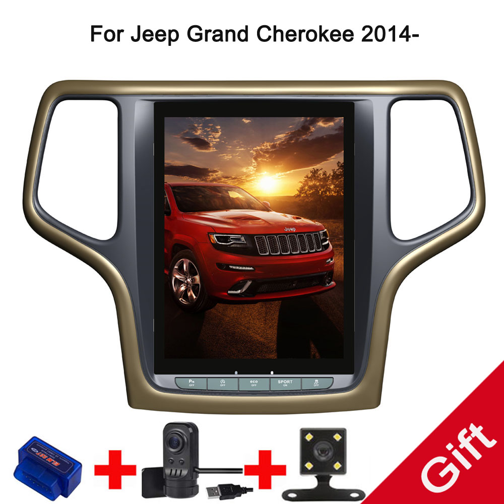 10 4 tesla type android 7 1 fit jeep grand cherokee 2014 2015 2016 2017 manual auto a c car dvd. Black Bedroom Furniture Sets. Home Design Ideas
