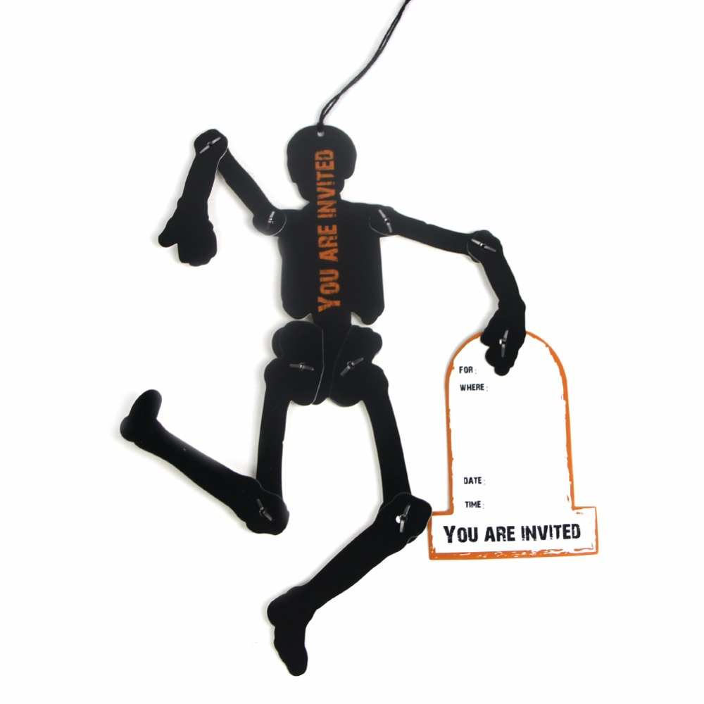 10pcsset halloween skeleton decoration scary halloween decorations clearance hanging halloween decorations for invitation card