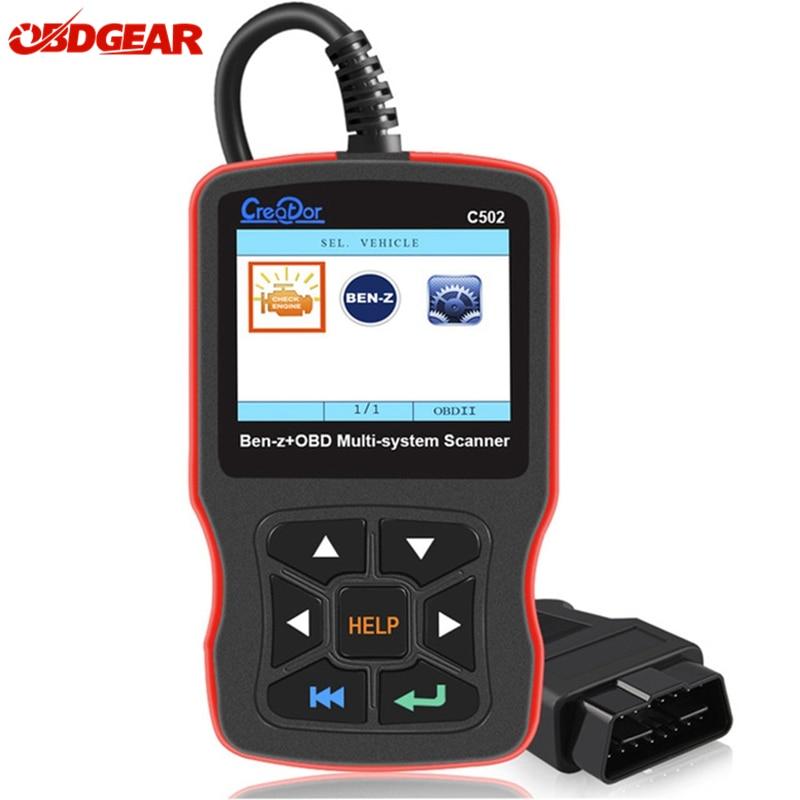 Criador C502 OBD2 Ferramentas De Diagnóstico Para Mercedes Benz W211 W210 C200 W203 W204 Suporte ABS Airbag OBD Código 2 Autoscanner leitor