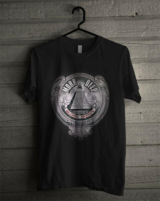 Limited Edition Mobb Deep Men's Blood Money T Shirt Reprint Men Brand Clothihng Top Quality Fashion Mens T-Shirt 100%Cotton