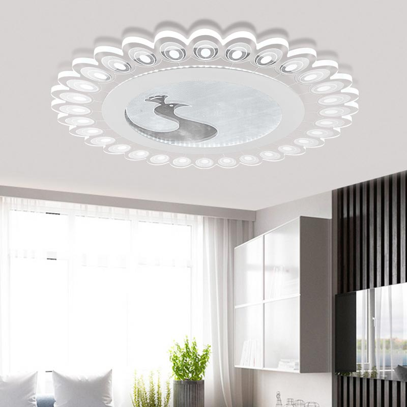 Acrylic Led Lamps Modern Ceiling Light With Remote Control Living Room Bedroom Kitchen Decor Home Lighting Fixtures White Iron modern minimalist ceiling lamps led lamps lighting acrylic stars children s room warm ultra thin bedroom lamp