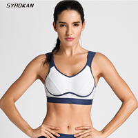 SYROKAN Women S High Impact Support Bounce Control Workout Plus Size Sports Bra