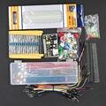 Envío Libre el paquete de piezas genéricas + 3.3 V/5 V módulo de potencia + MB-102 830 puntos Protoboard + 65 cables + caja de cable de puente Flexible
