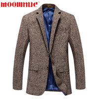 Leisure Suits Fashion Coat Casual Brown Formal Business Suits Men Classic Blazer Male High Quality Slim Fit Autumn Brand MOOWNUC