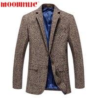Ocio Trajes moda casual marrón negocios formal Trajes hombres clásicos chaqueta masculina alta calidad slim fit otoño marca moownuc