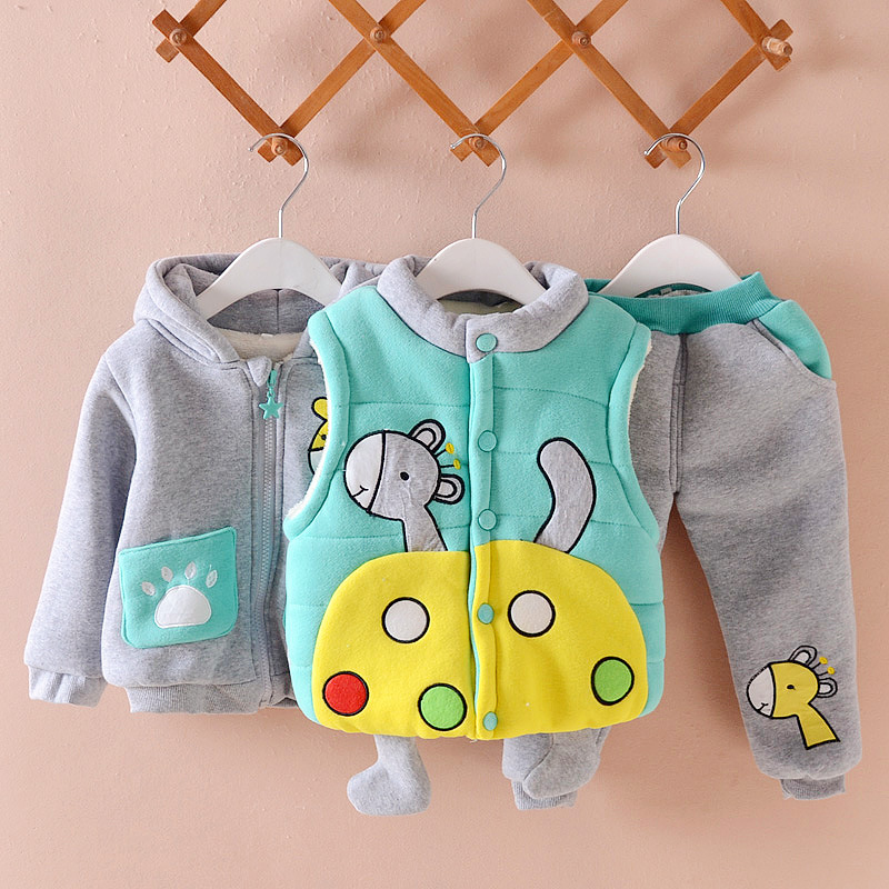 2017 Winter Baby Boy Clothing Sets Baby Suits Thicken 3 Pieces Sets Infant Clothes Toddler Sutis Warm Down Jacket Coat Suit free shipping 2pcs lot computer radiator pld08010s12hh cooler fan for msi twin frozr iii r6790 570gtx r6850 n460gtx r7950 hd7870