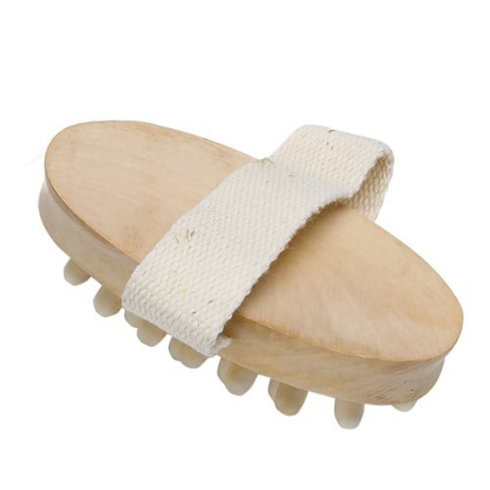 New Hand-Held Natural Wood Wooden Massager Body Brush Cellulite Reduction -15 1