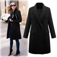 2019 New Arrival Womens Winter Lapel Wool Coat Trench Jacket Long Parka Overcoat Outwear12.13