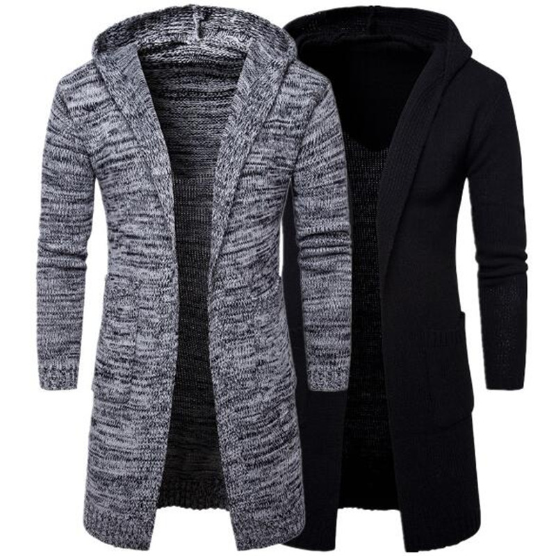 2018 new brand mens hooded thickened cardigan sweater jacket fashion European and American sweater Y913