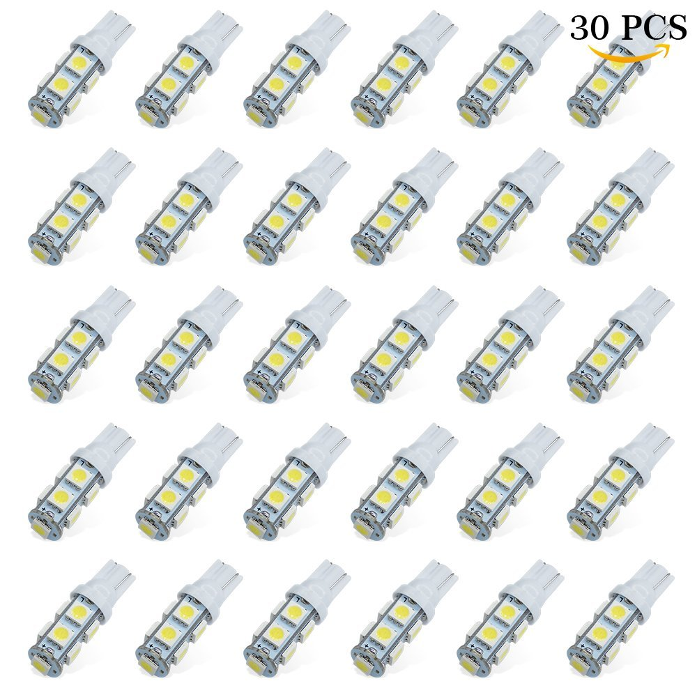 MODERN CAR 30pcs T10 194 168 Wedge Interier Lights 5050 9SMD W5W Replacement and Reverse Lights Car Styling Clearance Lamp DC12V ...