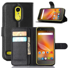 For Cover ZTE Blade X5 Case Wallet Style PU Leather Case for ZTE Blade X5 D3 Phone Skin Back Case With Card Holder Stand