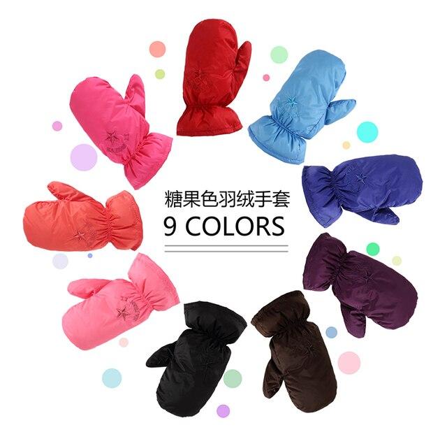 2016 Детские перчатки детские теплый пуховик открытый детский лыжные перчатки толстые теплые