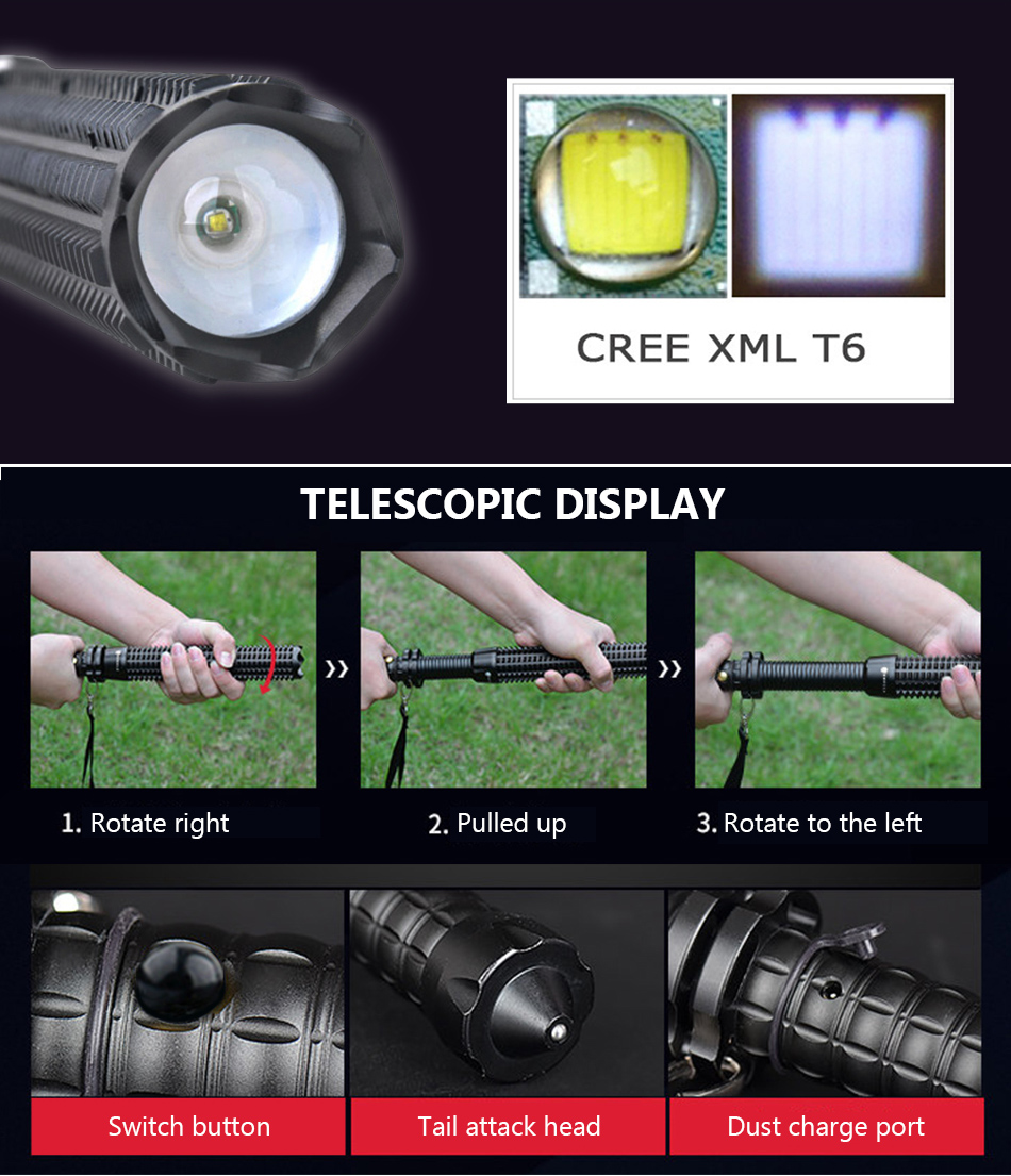 lowest price Powerful LED Flashlight Portable XHP70 2 Torch USB Rechargeable Searchlight Waterproof Spotlight with Base Fishing Light Lantern