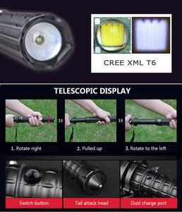 Image 4 - Super torche télescopique bâton pour auto défense lampe de poche 18650 batterie Rechargeable voiture lampe étanche tactique lampe de poche 29W