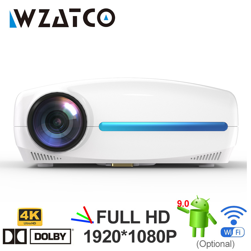 WZATCO C2 4K Full HD 1080P LED Projector Android 9.0 Wifi Smart Home Theater Video Proyector with Digital keystone correction(China)