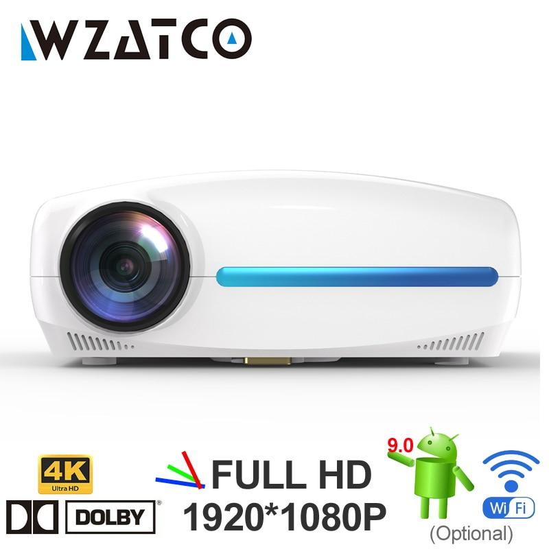 WZATCO C2 4K Full HD 1080P LED Projector Android 9.0 Wifi Smart Home Theater Projetor de Vídeo Digital com correção keystone