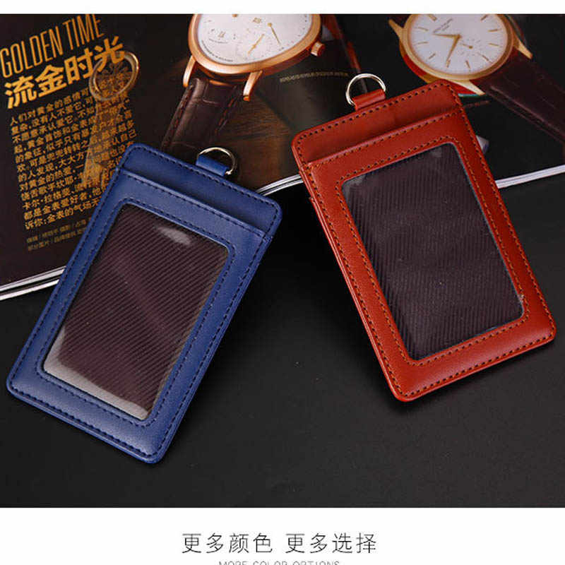 ... Genuine leather Credit Card Holders slim Women Girl Neck Strap Coin  Purse card Wallet Card Bus ... 12a3d07e8