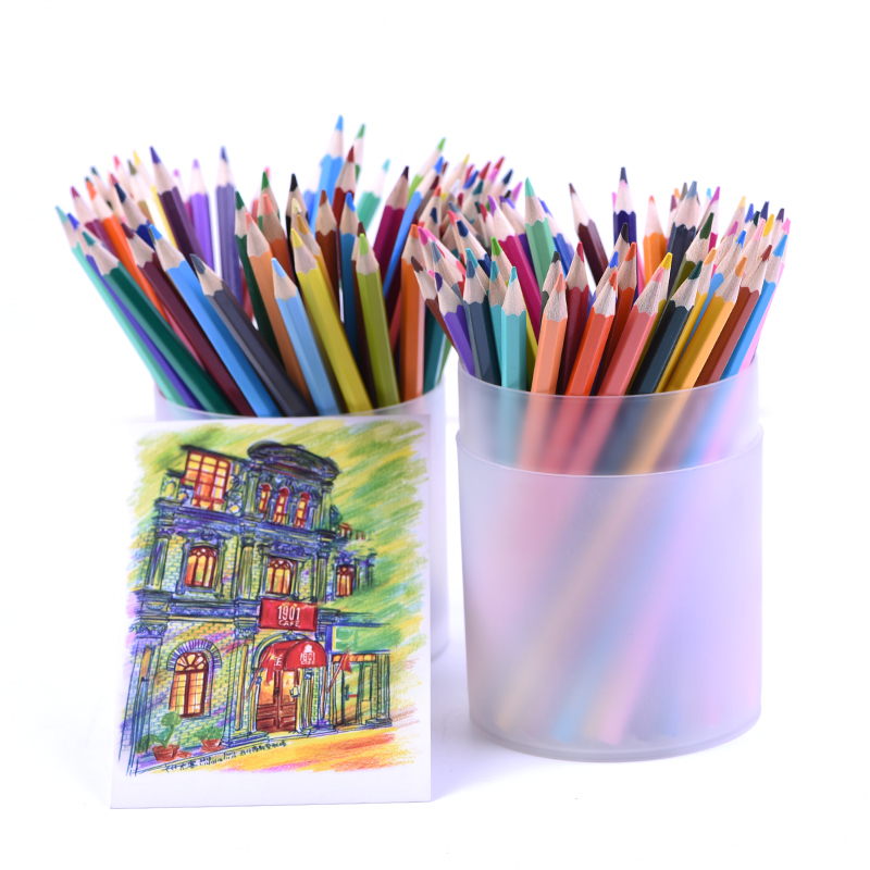 120 Fine Art Colored Drawing Pencils Oily Set Non-toxic For Writing Sketch Colored lapices School Fine Art Drawing