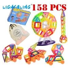 Lightaling игрушка кирпичи 158 шт. мини Магнитная 3D Building Block дизайнер Устанавливает DIY Развивающие игрушки для детей малыша