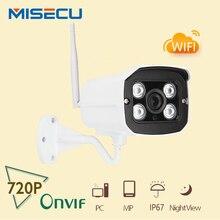 MISECU Nueva Visión Nocturna 1280*720 P HD 1.0MP P2P y ONVIF Inalámbrica Wifi Impermeable cámara IR En/Sistema de CCTV cámara de Seguridad IP CCTV al aire libre