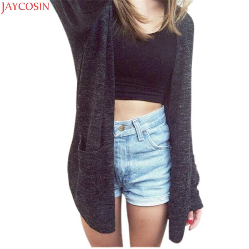Women Sweater Long Cardigan 2018 Fashion Autumn Winter Style Long Sleeve Loose Thick Knitted Cardigan female Sweaters Long Coat