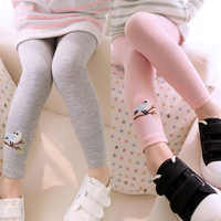 2019 New Kid Toddlers Warm Leggings Baby Kid Girl Bird Pattern Stretchy Skinny Pencil Pants Children Trousers Outfits Clothing