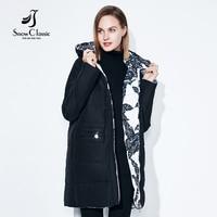 Fashionabl Winter Jacket Women Big Size 7xl Print Parka Both Side Can Wear Coats Cotton Pattern
