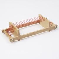 Mini Child Wooden Handmade Loom Household Knitting Machine Toy Weaving Scarf DIY Tool 31.5*12CM