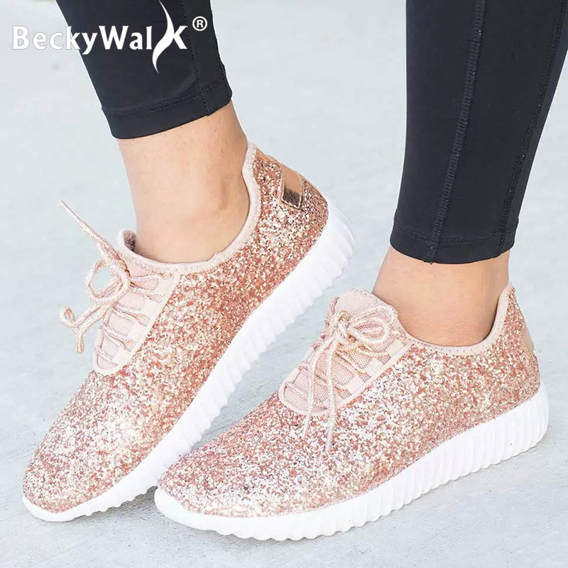Dropshipping Women Flats Shoes Bling Sliver Glod Women Sneakers Spring Chaussures Femme Plus Size 43 Casual Shoes Woman WSH3319Dropshipping Women Flats Shoes Bling Sliver Glod Women Sneakers Spring Chaussures Femme Plus Size 43 Casual Shoes Woman WSH3319