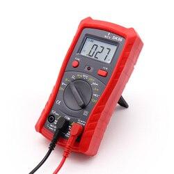 Multimètre Numérique Numérique Rétro-Éclairage Diode Température AC / DC Ampèremètre Voltmètre Ohm Instrument De Test Multimètre LCD De Poche